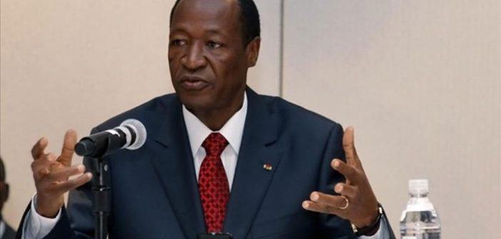 Blaise Compaoré, président du Faso