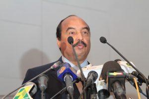 Le Président mauritanien prononçant le discours d'ouverture