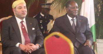 Mohamed VI à Abidjan avec Alassane Ouattara, président de la Côte d'Ivoire