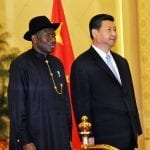 Goodluck jonathan, le président nigerian et Xi Jinping, son homologue chinois