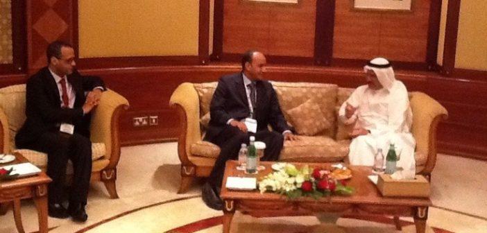 El Benna, vice-président de DP World et Mohamed Daf, PDG de la Zone franche de Nouadhibou
