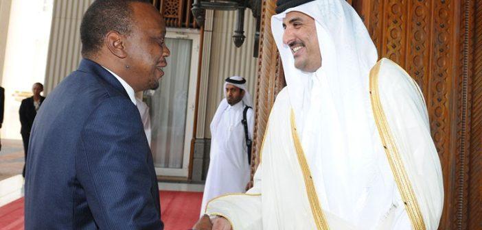 Le Président Uhru Kenyatta reçu par l'Emir du Qatar Sheikh Tamim