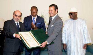 Le princesse Moulay Rachid en compagnie des présidents malien Ibrahim Boubacar Keita et guinéen Alpha Condé