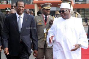 Blaise Compaoré, président du Burkina et son homologue malien ibrahim Boubacar Keïta