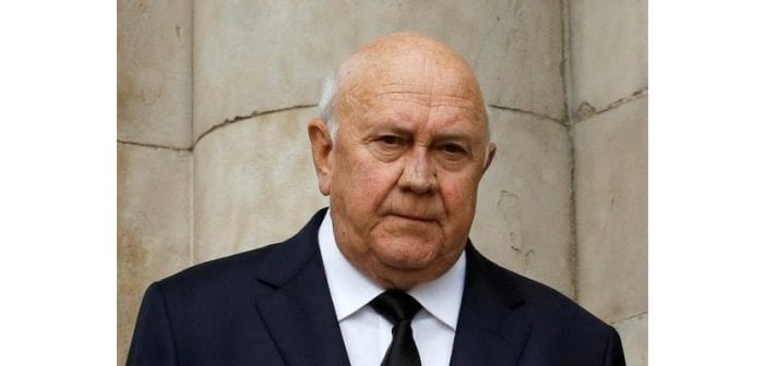 Frederik de Klerk, ancien président sud-africain