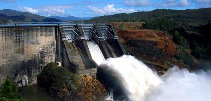 Barrage hydroelectrique vanne yate