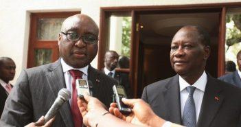 Alassane Ouattara, le président ivoirine et Donald Kaberuka , président de la BAD