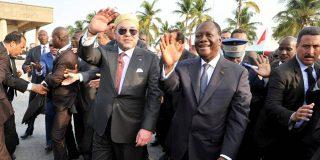 Le ROI Mohamed VI du Maroc et le Président Alassane Outtara de Côte d IVoire