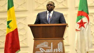 le President Macky Sall en Algerie