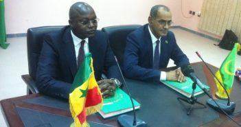 Ministre des pêches mauritaniens et Sénégalais