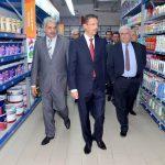 Mohamed chahad Filali, PDG de Bricoma à gauche
