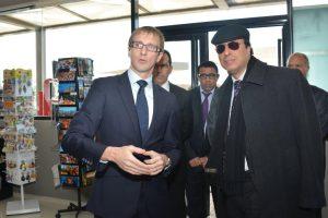 Arnaud Le Foll, Directeur général de Total Maroc Abdelkadr Amara ministre de l'Energie et des mines