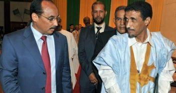 Le président Ould Abdel Aziz et le chef du FENDU