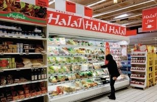 Rayon de produits Halal