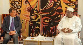 Audience accordée par le président Macky Sall à Henri Giscard d'Estaing, PDG Club Med