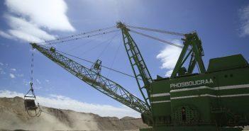 Dragline sur la mine de Boucraa DR Groupe OCP