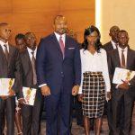 Denis Christel Sassou Nguesso et les etudiants benéficiaires de la bourse FPA