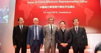 inauguration du bureau de Bank OF china à Casablanca