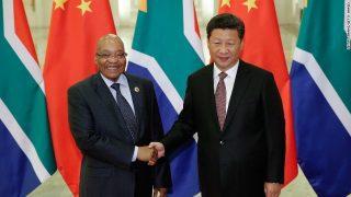 Les Présidents sud-africain et chinois Jacob Zuma et Xi Jinping