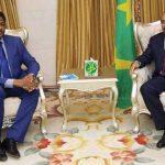le président mauritanien recevant le président de la commission de la cedeao Marcel de Souza