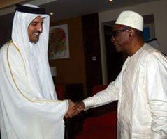 Emir du Qatar et le président guinéen