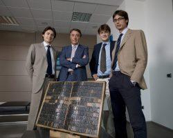 Paolo Bandecchi, Président de Rotolito et ses trois fils