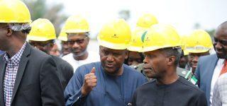 La raffinerie de Dangote en construction à Lekki près de Lagos