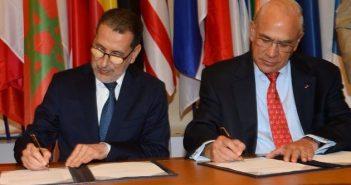 Saad Eddine El Othmani, Premier ministre du Maroc et Miguel Angel Gurria, Secretaire général de l'OCDE