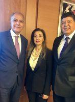 M. Salaheddine Mezouar, Président de la CGEM, Mme Leila Farah Mokaddem, Représentante-résidente de la BAD et Mohamed H'Midouche, Vice-président de l'ASMEX
