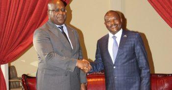Entretien entre le président Félix Tshisekedi avec son homologue président Pierre Nkurunziza