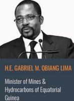 Gabriel M. Obiang Lima, ministre de la Guinée Equatoriale des Mines et des hydrocarbures