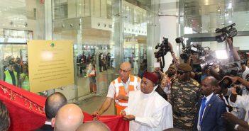 Le Président Mahamadou Issoufou lors de l'inauguration du nouvel aéroport Diori Hamani