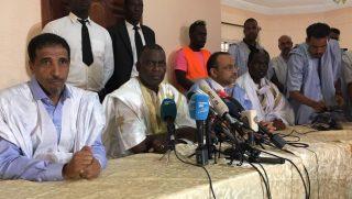 Les dirigeants de l'opposition mauritanienne après la proclamation des résultats de l'élection présidentielle du 22 juin