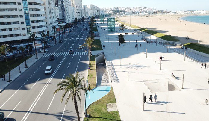 Vue du plan de la Corniche de Tanger