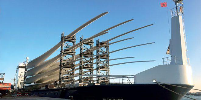 Pales pour éoliennes de SIEMENS