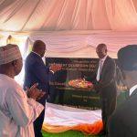 Le président Congolais inaugurant le laboratoire agricole portant le nom d'Olusegun Obasandjo, ancien président du Nigéria