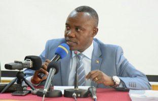 Côme Manirakiza, ministre de l'Hydraulique, de l'Energie et des Mines.