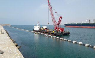 Confection de la conduite au port de Mohammédia
