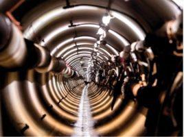 Tunnel en cours de réalisation