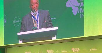 le ministre sud-africain de l'Energie et des ressources minières Gwede Mantashe