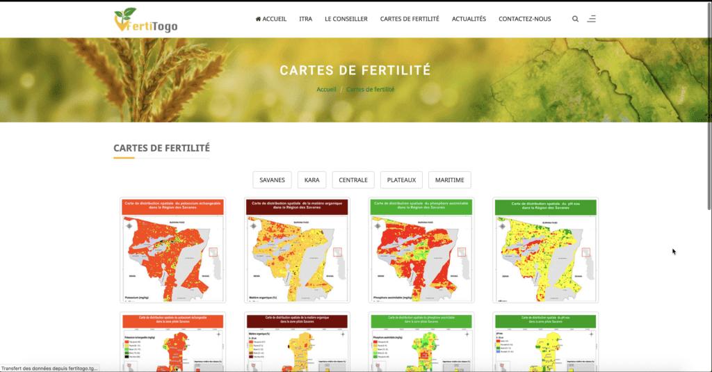 Carte de fertilité des sols du Togo 2020