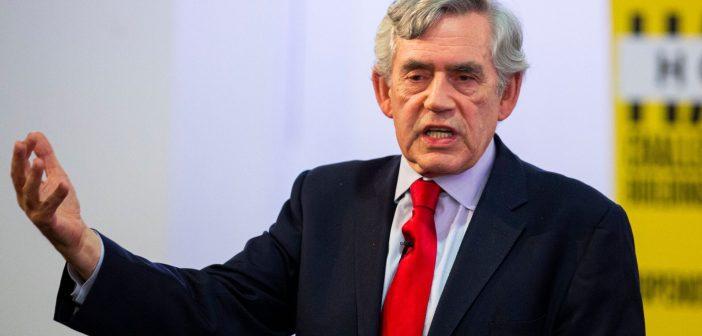 Gordon Brown, ancien premier ministre de Grande Bretagne
