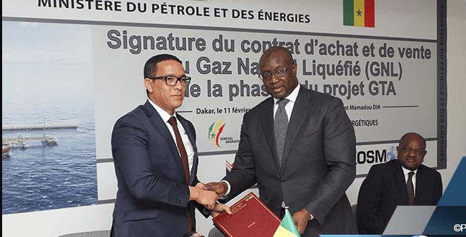 les ministres mauritaniens et sénégalais du Petrole