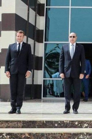 le président mauritanien recevant ses homologues du Sahel et le président Macron
