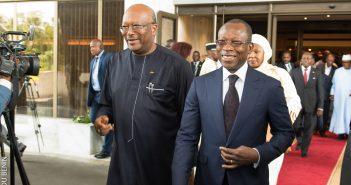 Les Présidents Roch Marc Christian Kaboré du Burkina Faso et Patrice Talon du Benin
