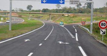 la maquette de l'autoroute Yamoussoukro-Ouagadougou