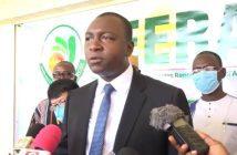 Bachir Ismaël Ouédraogo ministre burkinabè de l'énergie.