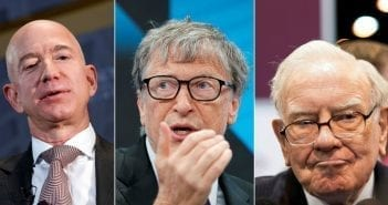 Jeff Bezos, Bill Gates et Warren Buffett.