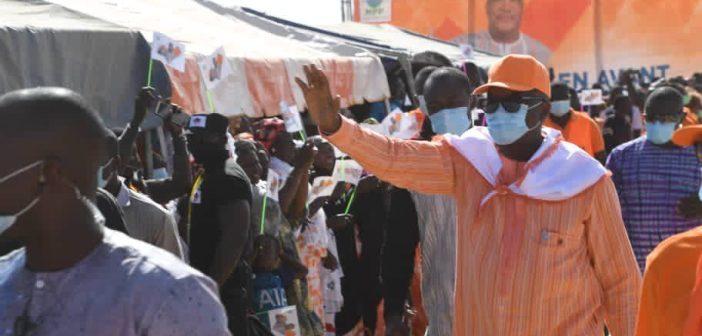 Après la rencontre avec les forces vices, le candidat du MPP et de l'APMP, s'est rendu à la place de la nation pour son meeting régional