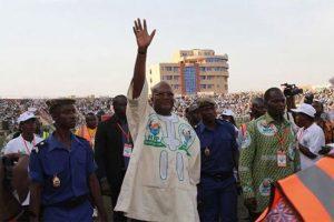 Le Président-candidat,  Roch Marc Christian Kaboré en campagne